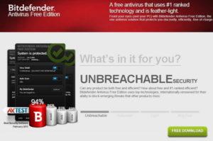 Bitdefender Antivirus Free Edition For Windows 10 download
