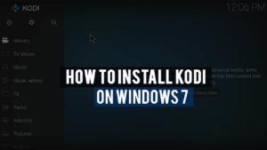 Install kodi on windows 7